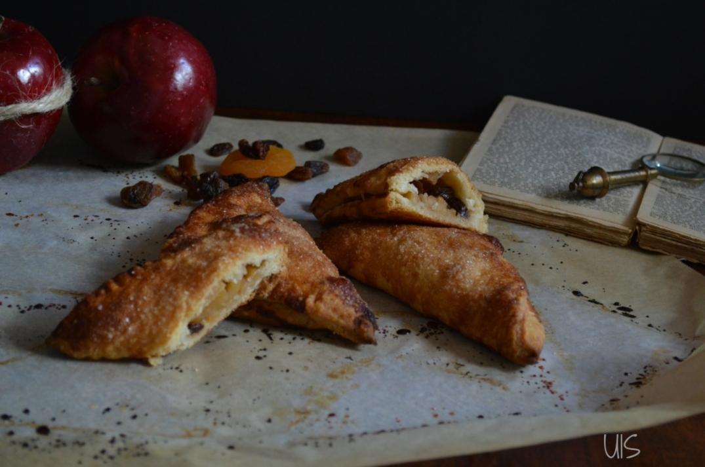 postre holandés de hojaldre, manzana, canela y nueces