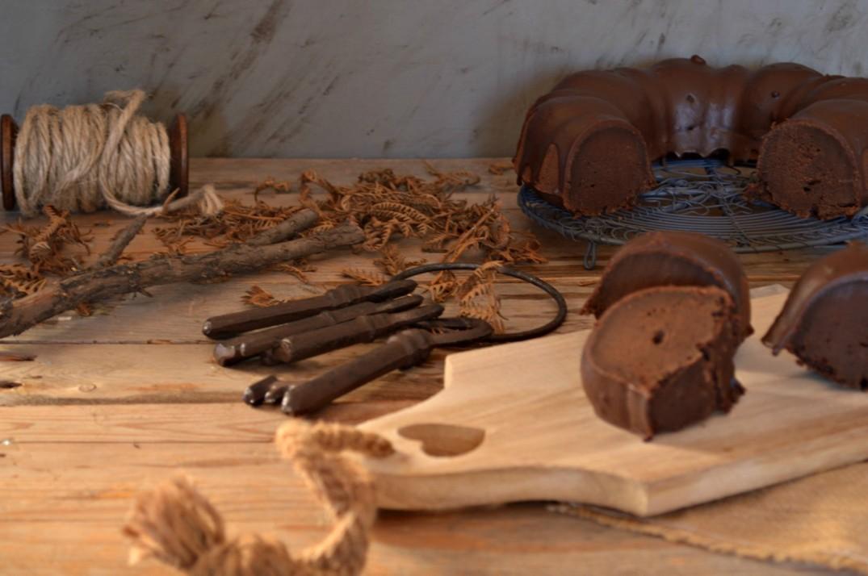 bizcocho-trufa de chocolate intenso