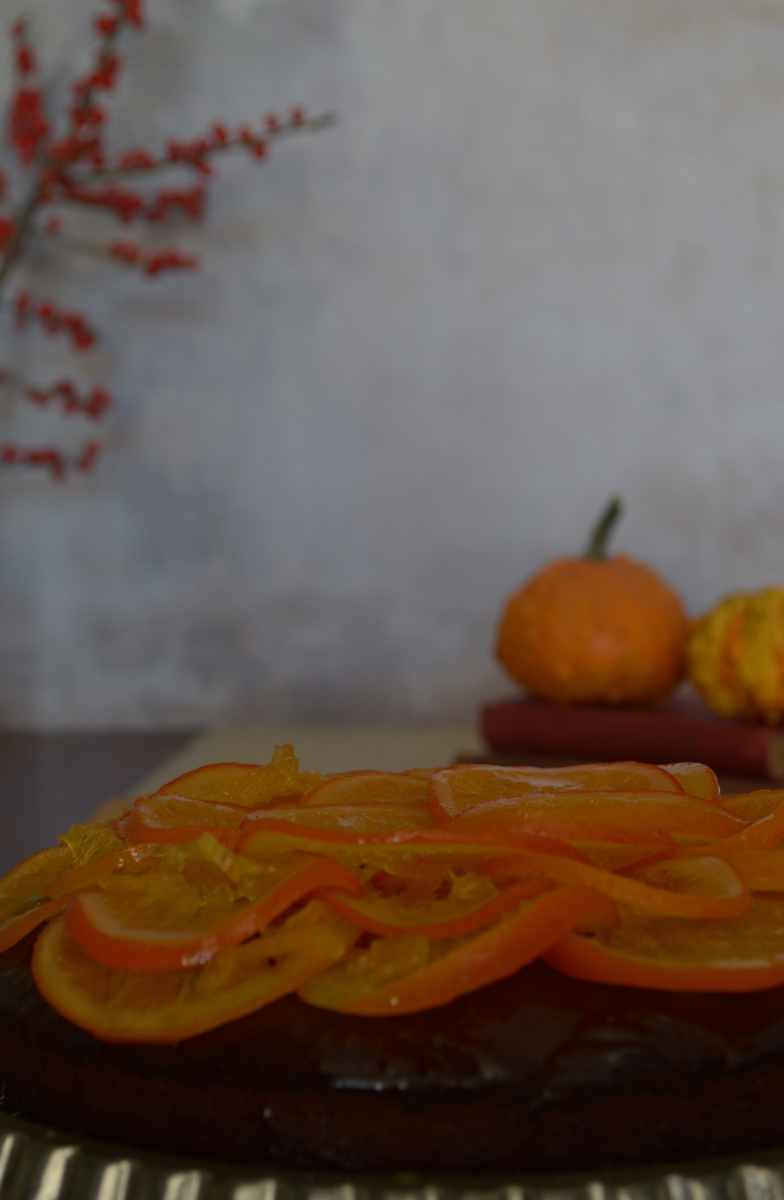 bizcocho de chocolate, naranja y aceite de oliva