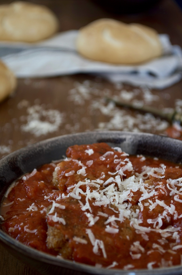 Albóndigas de berenjena con parmesano